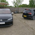 A pair of Golfs