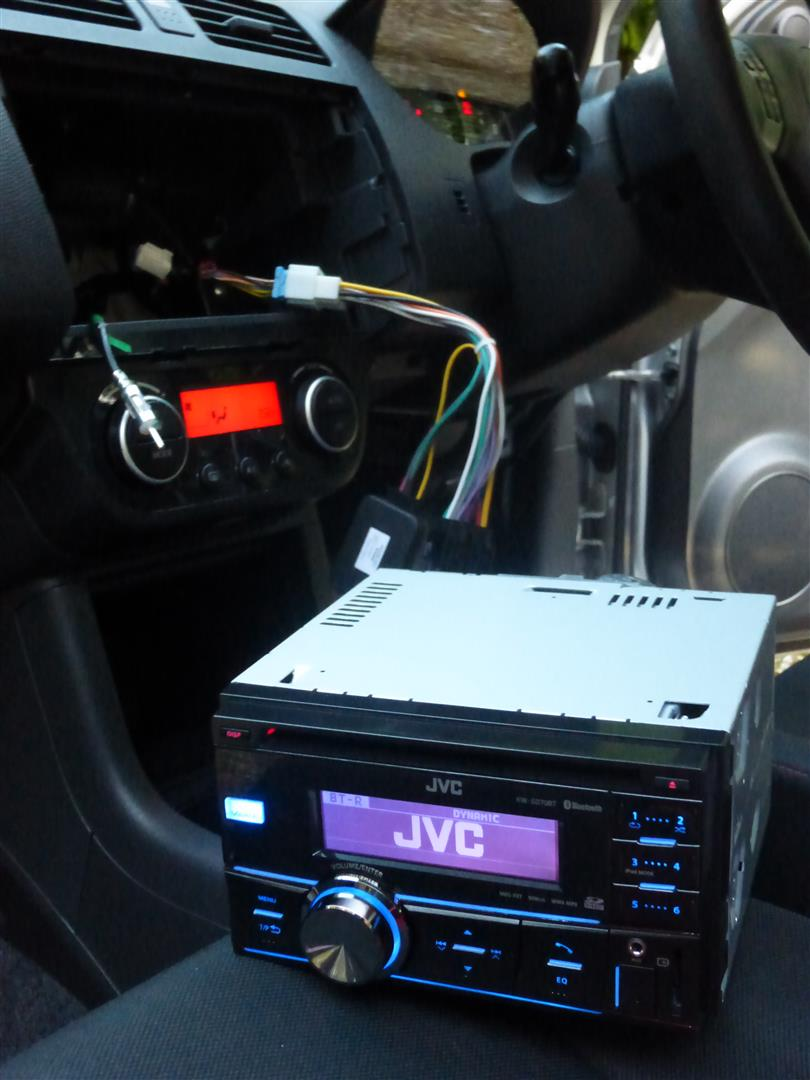 Fitting An Aftermarket Stereo To The Suzuki Swift Datahamster Jvc Headunit Wiring Diagram All Seems Ok