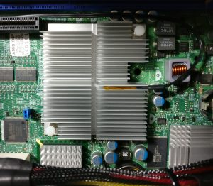 Thermocouple installed in the Northbridge heatsink